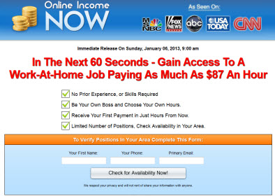 Online Income Now Website