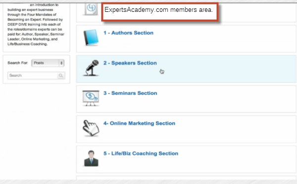 experts academy 5 modules