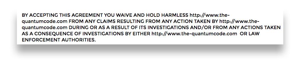 quantum-code-disclaimer